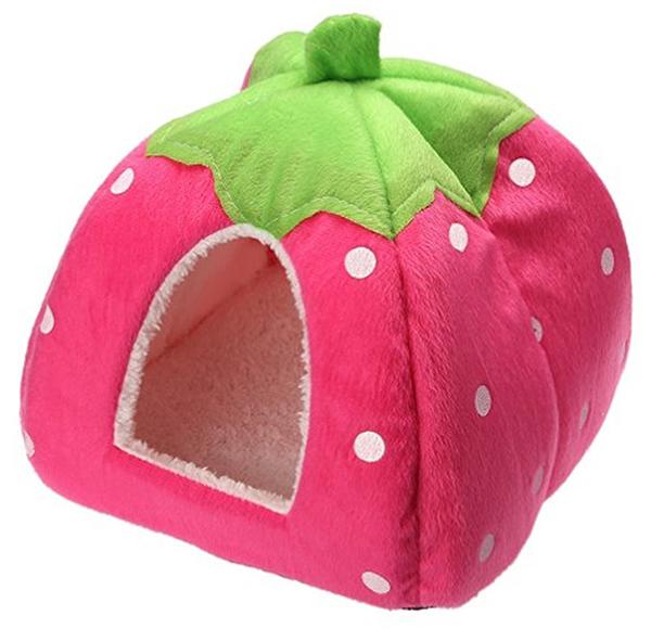 cama de perro con forma de fresa rosa Spring Fever