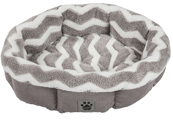 cama de forma redonda para perros